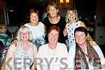 Ladies from Ballinhassig Bridge Club, Co Cork, travelled to Tralee, last Friday for their annual dinner, and chose the Rose hotel for the venue, seated L-R Mary Wycherley, Margaret Flynn and Ann Collins. Back L-R Anne O'Donnovan, Angela Clifford&Susan O'Neill.