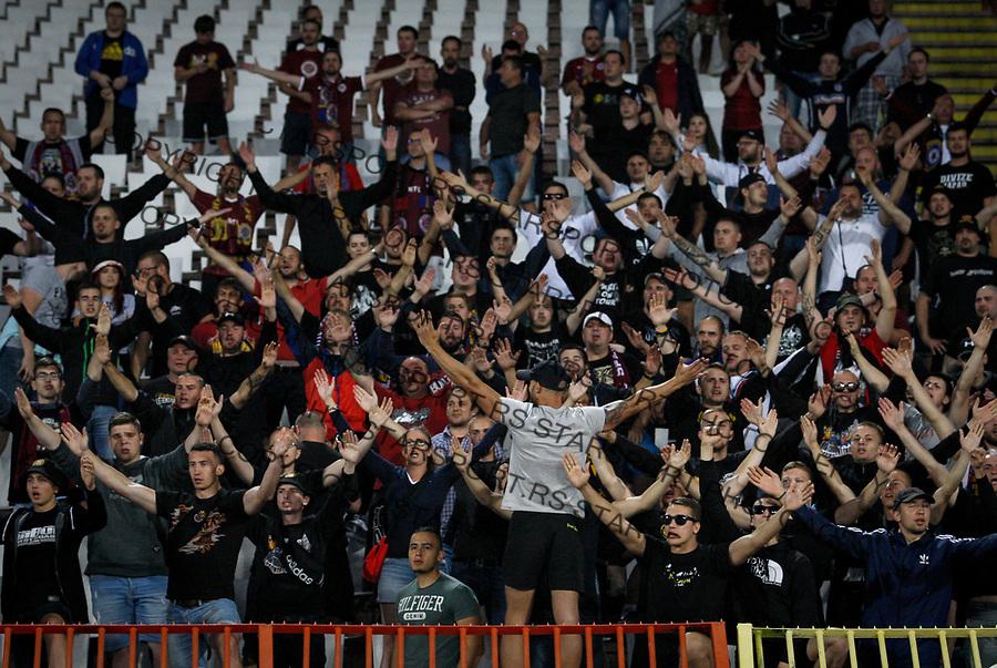 FC Sparta Prague fans show their support, Crvena Zvezda - Sparta Prag 27.7.2017. Beograd, Srbija, Europa league, liga Evrope qualification match, kvalifikaciona utakmica<br /> 27. Jul 2017. (credit image &amp; photo: Pedja Milosavljevic / STARSPORT)