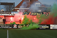 Beker van Belgie Vrouwen <br /> 1/2 finale : SV Zulte Waregem - AA Gent Ladies :<br /> Sfeer voor aanvang van de match<br /> <br /> Foto VDB / Bart Vandenbroucke