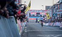 victory for European CX Champion Toon Aerts (BEL/Telenet-Fidea)<br /> <br /> Elite Men's Race<br /> Soudal Jaarmarktcross Niel 2016