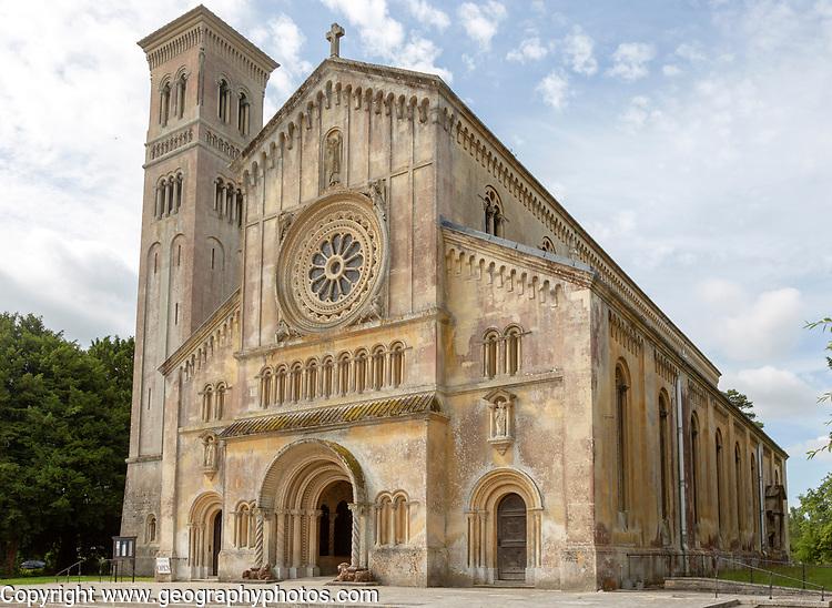 Exterior 19th century Italianate architecture of Wilton new church, Wiltshire, England, UK built 1844