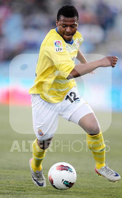 Espanyol's Kalu Uche during La Liga Match. February 18, 2012. (ALTERPHOTOS/Alvaro Hernandez)