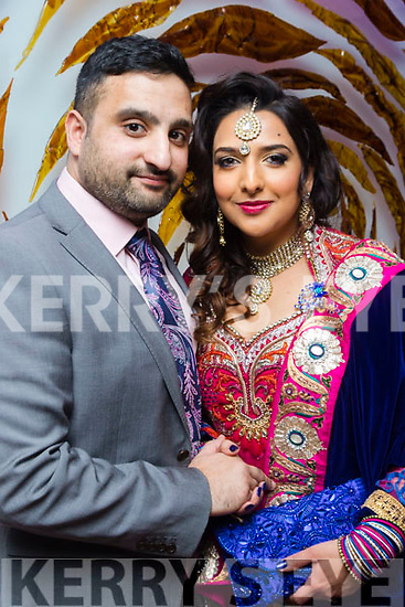 Ali Bari from Tralee and Sofia Mansoor, from London pictured at their reception in the Ballygarry house hotel, Tralee last Sunday afternoon as they married in London on February 4th last.