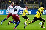 10.02.2018, Signal Iduna Park, Dortmund, GER, 1.FBL, Borussia Dortmund vs Hamburger SV, <br /> <br /> im Bild | picture shows:<br /> Shinji Kagawa (Borussia Dortmund #23) passt zu Michy Batshuayi (Borussia Dortmund #44), <br /> <br /> <br /> Foto &copy; nordphoto / Rauch
