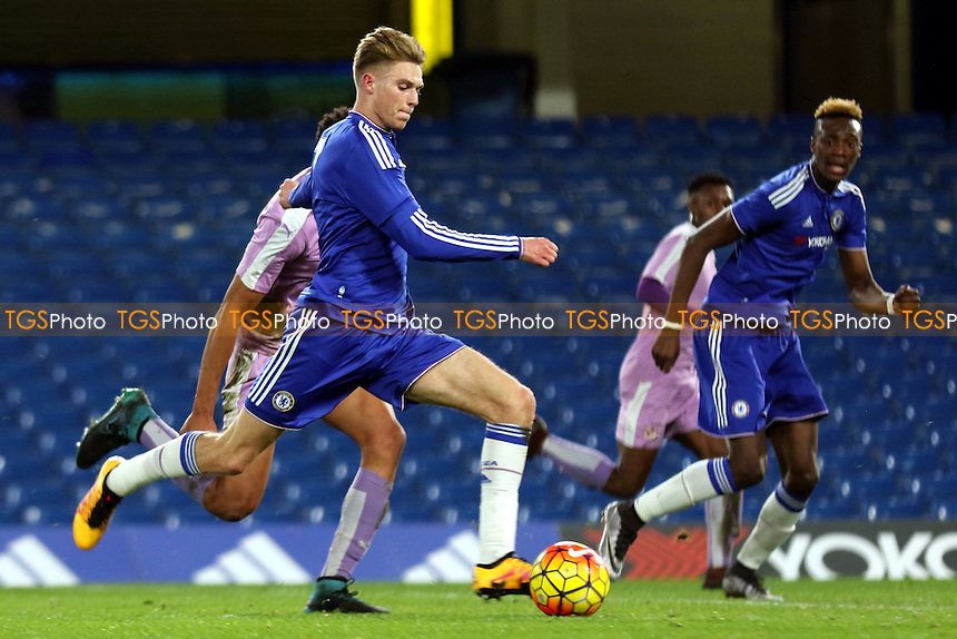 Charlie Wakefield of Chelsea gets ready to have a shot at the Reading goal during Chelsea Youth vs Reading Youth, FA Youth Cup Football at Stamford Bridge