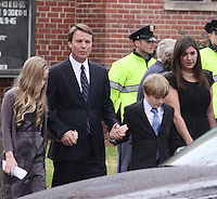 Elizabeth Edwards Funeral Service John Edwards Children<br /> Emma Claire, Jack, Eldest<br /> Cate by Jonathan L Green<br /> Raleigh North Carolina USA