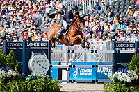 AUS-Rowan Willis rides Blue Movie during Round A of the FEI World Individual Jumping Championship. 2018 FEI World Equestrian Games Tryon. Sunday 23 September. Copyright Photo: Libby Law Photography