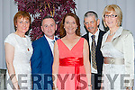 Joan O'Callaghan, Eugene O'Sullivan, eleanor O'Doherty, Ben and Katherina Breen at the Killarney Mayor ball in aid of the Irish cancer society at the Malton Hotel on Sunday night