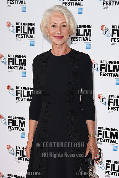 Dame Helen Mirren at the photocall for &quot;Trumbo&quot; at the Corinthia Hotel, London.<br /> October 8, 2015  London, UK<br /> Picture: Steve Vas / Featureflash