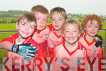Taking part in the football blitz in knocknagoshel at the week-end were Conor Lane, Jimmy Kelly, Paul walsh, Michael Mullins and Lenore Kelly...   Copyright Kerry's Eye 2008