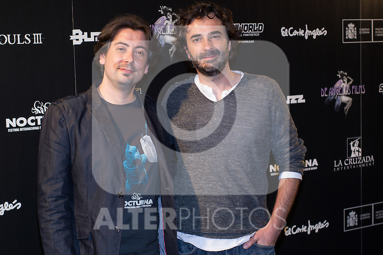 Luis Rosales and Gonzalo Lopez Gallego at Nocturna, the international festival of fantastic cinema of Madrid. May 23,2016. (ALTERPHOTOS/Rodrigo Jimenez)