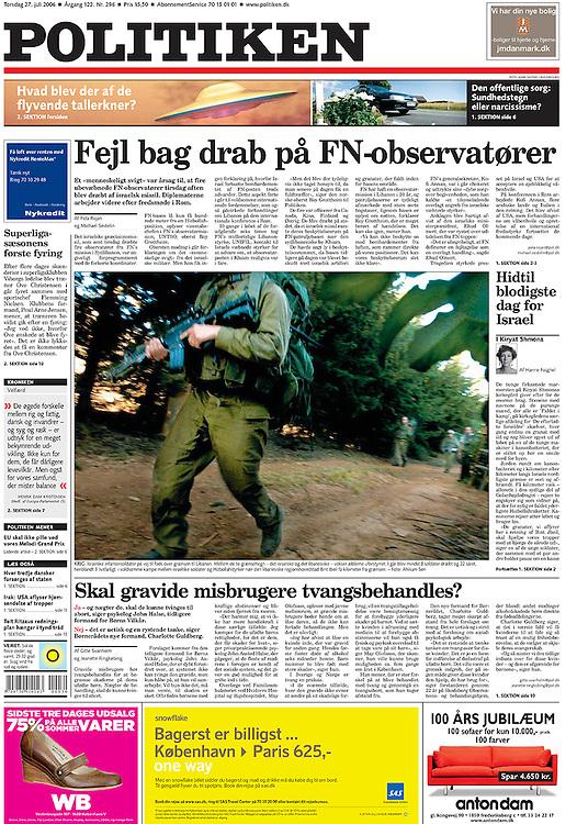 Politiken, Denmark - July 27, 2006