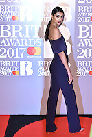 Neelam Gill <br /> The Brit Awards at the o2 Arena, Greenwich, London, England on February 22, 2017.<br /> CAP/PL<br /> &copy;Phil Loftus/Capital Pictures /MediaPunch ***NORTH AND SOUTH AMERICAS ONLY***