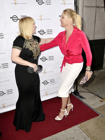 "BEVERLY HILLS, CA - AUGUST 26: Patricia Arquette and Nicolette Sheridan attend the ""Equal Means Equal"" Special Screening at the Music Hall on August 20, 2016 in Beverly Hills, CA. Koi Sojer, Snap'N U Photos / MediaPunch"