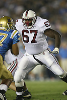 1 October 2006: Allen Smith during Stanford's 31-0 loss to UCLA at the Rose Bowl in Pasadena, CA.