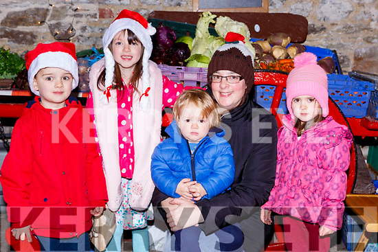 Eoin Ciara, fionn, Helen and Meabh McClure Milltown at the Milltown Farmers Market on Saturday