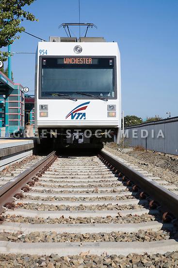 VTA (Valley Transportation Authority) Light Rail Car To Winchester (San  Jose) Arriving