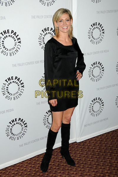 "CARRIE PRESTON.The 26th Annual William S. Paley Television Festival presents ""True Blood"" held at Arclight Cinemas, Hollywood, California, USA..April 13th, 2009.full length black dress hand on hip boots .CAP/ADM/BP.©Byron Purvis/AdMedia/Capital Pictures."