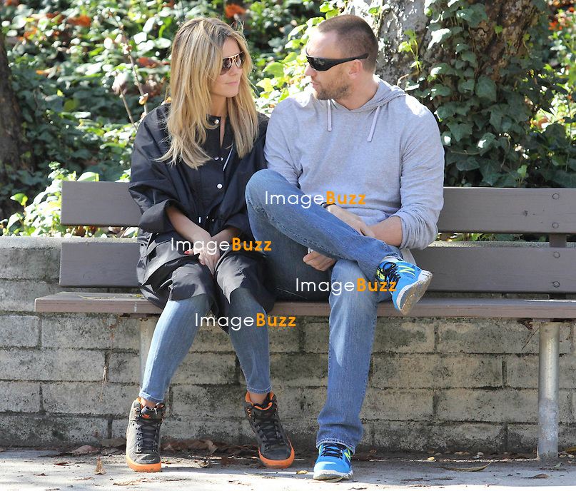 Heidi Klum with Martin Kristen, Lou Sulola Samuel and Henry Samuel enjoy a day out all together at the park in Brentwood, Los Angeles..January 26, 2013.