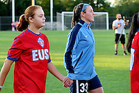 Piscataway, NJ - Wednesday Sept. 07, 2016: Erin Simon prior to a regular season National Women's Soccer League (NWSL) match between Sky Blue FC and the Orlando Pride FC at Yurcak Field.