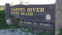 CARMEL - APR 29: Carmel River State Beach in Carmel, California on April 29, 2011.