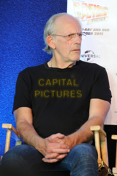 LONDON, ENGLAND - JULY 19: Christopher Lloyd attending the London Film and Comic Con at Olympia London, on July 19, 2015 in London, England.<br /> CAP/MAR<br /> &copy; Martin Harris/Capital Pictures
