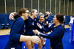 PENSACOLA, FL - DECEMBER 09: Concordia University, St. Paul players celebrate after winning the Division II Women's Volleyball Championship held at UWF Field House on December 9, 2017 in Pensacola, Florida. (Photo by Timothy Nwachukwu/NCAA Photos via Getty Images)