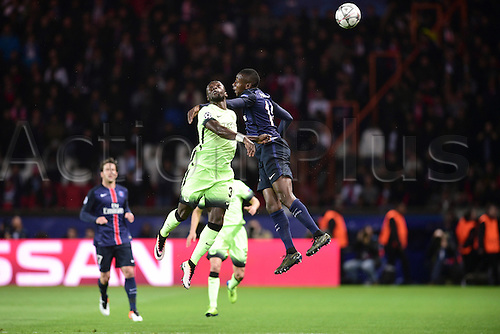 06.04.2016. Paris, France. UEFA CHampions League, quarter-final. Paris St Germain  versus Manchester City.  Blaise Matuidi (PSG) challenged by Bacary Sagna (Manchester City)