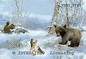 GIORDANO, CHRISTMAS LANDSCAPES, WEIHNACHTEN WINTERLANDSCHAFTEN, NAVIDAD PAISAJES DE INVIERNO, paintings+++++,USGI2723,#XL# bear