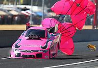 Oct 18, 2015; Ennis, TX, USA; NHRA funny car driver Alexis DeJoria during the Fall Nationals at Texas Motorplex. Mandatory Credit: Mark J. Rebilas-USA TODAY Sports
