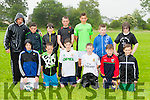 Ted Broderick with his team Castle Minions team who played in the Castleisland Garda soccer blitz  on Wednesday front row l-r hubert Turkiewicz, Alex kepp, Dane Hewitt, TJ Broderick, Evan Murphy, Kuba Turkiewiecz. Back row: Conor O'Neill, Seamus Fleming, Daniel Costello, Kenneth O'connor, Shane Coffey and Matthew Broderick