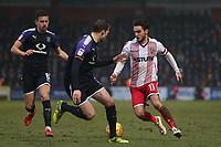 John Goddard of Stevenage during Stevenage vs Luton Town, Sky Bet EFL League 2 Football at the Lamex Stadium on 10th February 2018