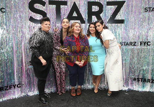 CENTURY CITY, CA - June 2: Ser Anzoategui, Melissa Barrera, Tanya Saracho, Chelsea Rendon, Mishel Prada, at Starz FYC 2019 — Where Creativity, Culture and Conversations Collide at The Atrium At Westfield Century City in Century City, California on June 2, 2019. <br /> CAP/MPIFS<br /> ©MPIFS/Capital Pictures