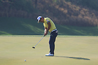 Hideto Tanihara (JPN) in action on the 3rd during Round 4 of the Hero Indian Open at the DLF Golf and Country Club on Sunday 11th March 2018.<br /> Picture:  Thos Caffrey / www.golffile.ie<br /> <br /> All photo usage must carry mandatory copyright credit (&copy; Golffile | Thos Caffrey)