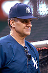 16 June 2006: Joe Torre, manager of the New York Yankees, watches batting practice prior to a game against the Washington Nationals at RFK Stadium, in Washington, DC. The Yankees defeated the Nationals 7-5 in the first meeting of the two franchises...Mandatory Photo Credit: Ed Wolfstein Photo...