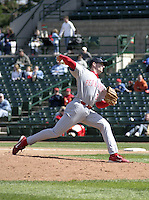 April 24, 2004:  Pitcher Shane Bowers (31) of the Scranton-Wilkes Barre Red Barons, Class-AAA International League affiliate of the Philadelphia Phillies, during a game at Frontier Field in Rochester, NY.  Photo by:  Mike Janes/Four Seam Images