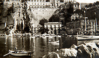 BNPS.co.uk (01202 558833)<br /> Pic: PhilYeomans/BNPS<br /> <br /> Sorrento.<br /> <br /> Unearthed - fascinating unseen archive of cameras, photographs, documents and medals from a British aerial reconnaisance expert who fought all the way through Africa and southern Europe in WW2.<br /> <br /> Flt Lt Eric Cooper from London kept all his wartime paraphernalia, including his K20 handheld camera and stereoscopic plotting instruments until his death in Devon aged 96 in 2012.<br /> <br /> The incredible photographs show bombing raids, amphibious landings and badly damaged aircraft alongside off duty snaps of the campaign throughout the mediterraenean.<br /> <br /> His nephew is now selling the compelling collection at Plymouth Auction Rooms in Devon next week.