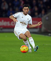 Neil Taylor of Swansea during the Barclays Premier League match between Swansea City and West Bromwich Albion played at the Liberty Stadium, Swansea on December 26 2015