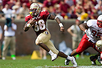 October 31, 2009:    Florida State running back Jermaine Thomas (38) breaks free for a long gain during Atlantic Coast Conference action between the North Carolina State Wolfpack and Florida State Seminoles at Doak Campbell Stadium in Tallahassee, Florida.