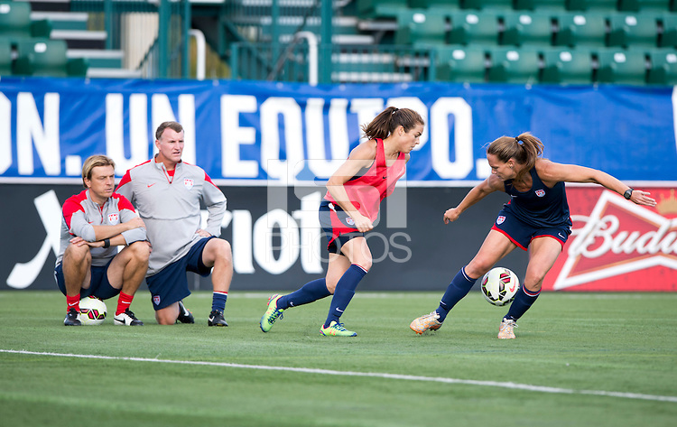 Rochester, NY - September 17, 2014: The USWNT practiced Wednesday in preparation for their international friendly against Mexico at Sahlen's Stadium.