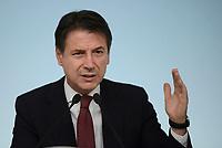 Rom, 20 Ottobre 2018<br /> Giuseppe Conte,<br /> Palazzo Chigi<br /> Conferenza stampa al termine del Consiglio dei ministri sul Def