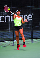 Elys Saguil Ventura. 2017 Wellington Open tennis championship at Renouf Tennis Centre in Wellington, New Zealand on Tuesday, 19 December 2017. Photo: Dave Lintott / lintottphoto.co.nz