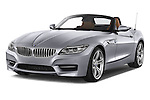 2014 BMW Z4 sDrive35i Lounge 2 Door Convertible 2WD Angular Front stock photos of front three quarter view