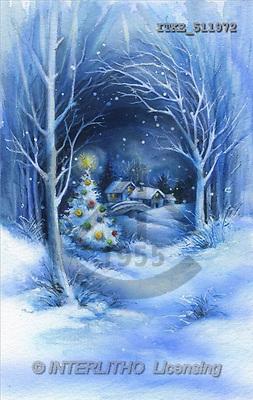 Isabella, CHRISTMAS LANDSCAPE, paintings(ITKE511972,#XL#) Landschaften, Weihnachten, paisajes, Navidad, illustrations, pinturas