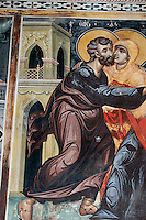Zypern (Süd), Fresken in Scheunenkirche Panagia Eleousa Podithou in Galata im Troodos-Gebirge, erbaut 1502, Unesco-Weltkulturerbe