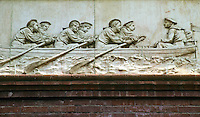 Washington D.C. : Pension Building. Frieze of six Civil War Military units repeated around the building. Designer Caspar Buberl. Photo '91.