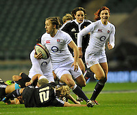 Rugby Union. Twickenham, England. Katy McLean of England during the QBE international match between England and New Zealand Black Ferns at Twickenham Stadium on December 01, 2012 in Twickenham, England.