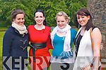 FILM FUN: Enjoying the fun at the Indian Film Festival of Ireland 2011 at Siamsa Tire, Tralee on Friday l-r: Agathe Riviere, Katharina Keller, Kathrin Piront and Sabrina Brueggemann.