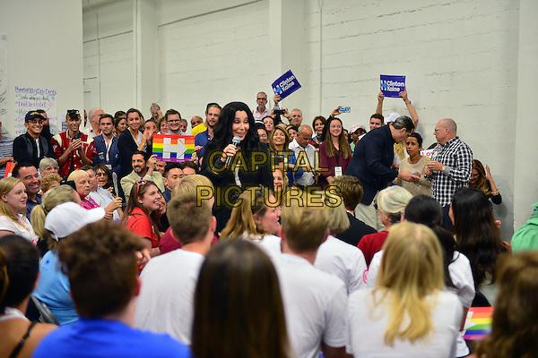 MIAMI, FL - NOVEMBER 07: Cher campaigns for Hillary Clinton on November 7, 2016 in Miami, Florida. <br /> CAP/MPI10<br /> &copy;MPI10/Capital Pictures