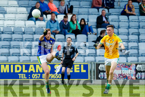 Brendan O'Sullivan Kerry in action against Kevin Ross Meath in the All Ireland Junior Football Final at O'Moore Park, Portlaoise on Saturday.